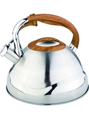 Чайник со свистком 3л. RAINSTAHL. Цвет: оранжевый