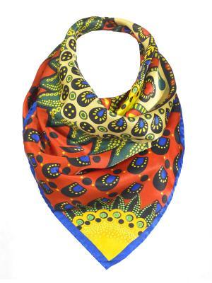 Платок Rob-art by Katya Rozhdestvenskaya. Цвет: красный, желтый, зеленый