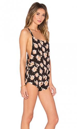 Комбинезон snapper Acacia Swimwear. Цвет: черный