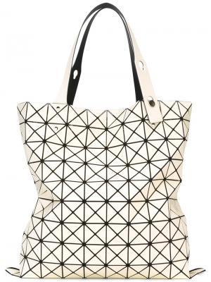 Большая сумка-тоут Prism Bao Issey Miyake. Цвет: белый
