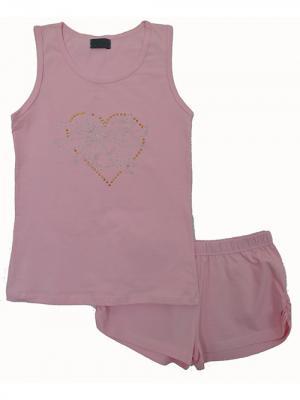 Пижама RobyKris. Цвет: розовый