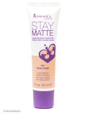 Тональный крем Stay Matte № 103 Rimmel. Цвет: бежевый