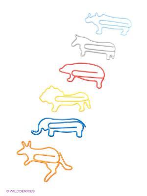 Зажимы Zoo Animal, 6 шт. Kawaii Factory. Цвет: оранжевый