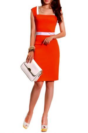 Платье FRANCESCA LUCINI. Цвет: оранжевый