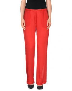 Повседневные брюки CARINE GILSON. Цвет: красный