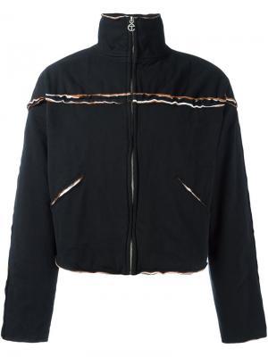 Куртка с необработанными краями на молнии Telfar. Цвет: чёрный