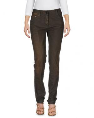 Джинсовые брюки ROBERTA SCARPA. Цвет: хаки