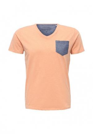 Футболка Fresh Brand. Цвет: оранжевый
