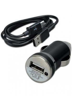Автомобильное зарядное устройство Pro Legend, пуля, 1 USB + micro usb, черное, 1А Legend. Цвет: черный