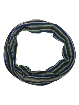 Шарф Zalta. Цвет: синий, бирюзовый, серый