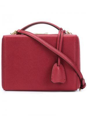 Маленькая сумка через плечо Grace Mark Cross. Цвет: красный