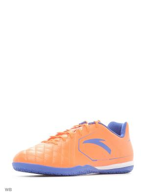 Бутсы ANTA. Цвет: синий, белый, оранжевый