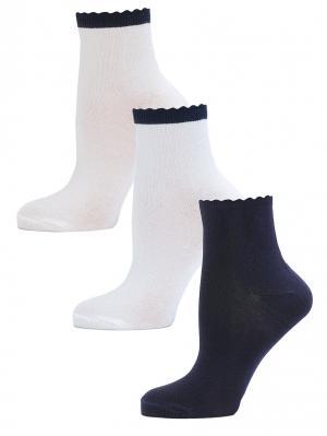 Носки LARMINI. Цвет: темно-синий, белый, кремовый