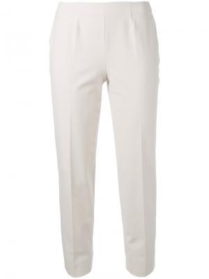 Классические брюки Piazza Sempione. Цвет: телесный