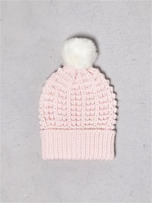 Шапка Sinsay. Цвет: бледно-розовый