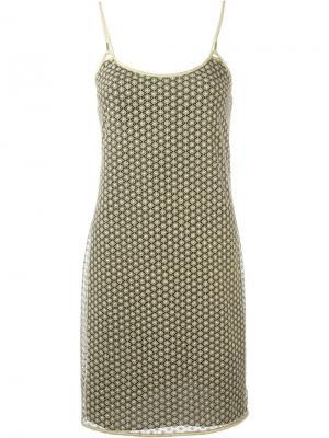 Платье Alvera Diane Von Furstenberg. Цвет: металлический