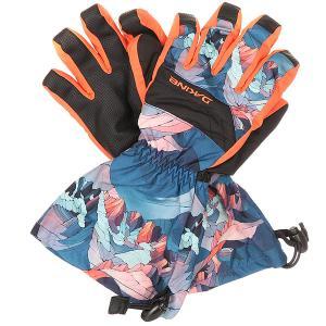 Перчатки сноубордические детские  Yukon Glove Daybreak Dakine. Цвет: синий,мультиколор,оранжевый
