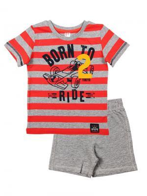 Комплект (футболка, шорты) Cherubino. Цвет: красный