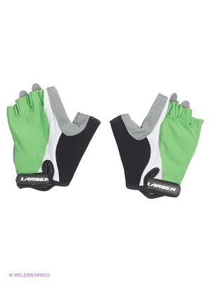 Велоперчатки Larsen. Цвет: зеленый