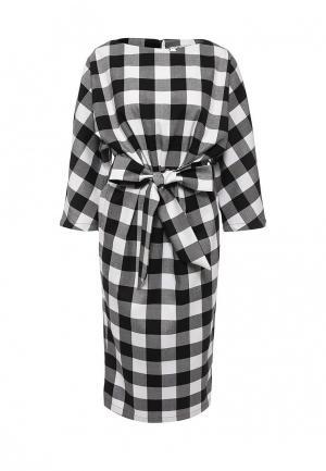 Платье Bezko. Цвет: черно-белый