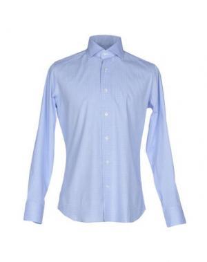 Pубашка GUGLIELMINOTTI. Цвет: лазурный