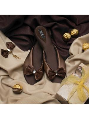 Домашняя обувь Petit Pas. Цвет: светло-коричневый
