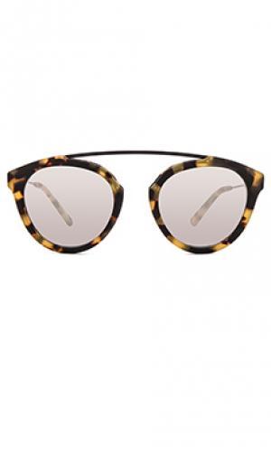 Солнцезащитные очки flower 1 WESTWARD LEANING. Цвет: коричневый