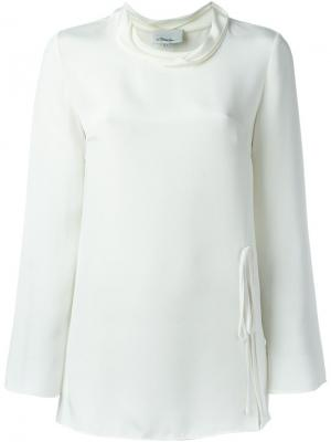 Блузка c V-образным вырезом 3.1 Phillip Lim. Цвет: белый