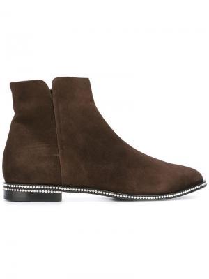 Декорированные ботинки Le Silla. Цвет: коричневый