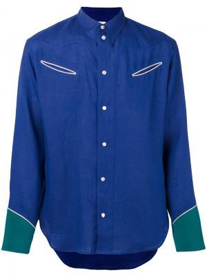 Рубашка в стиле вестерн Umit Benan. Цвет: синий