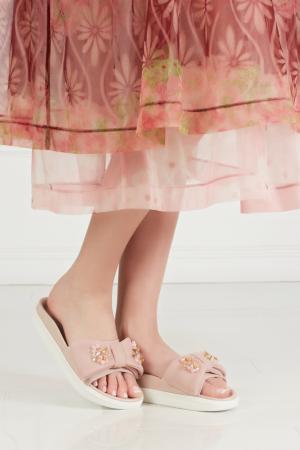 Сандалии с вышивкой Simone Rocha. Цвет: розовый
