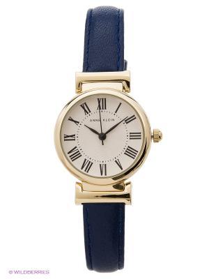 Часы ANNE KLEIN. Цвет: темно-синий, золотистый