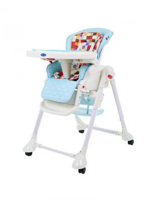 Стульчик для кормления Sweet Baby Luxor Multicolor Blu. Цвет: голубой