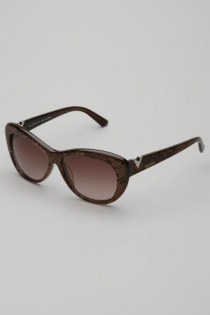 Очки солнцезащитные Valentino. Цвет: светло-коричневый