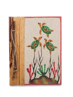 Блокнот На дне океана бол. (о.Бали) Decor & gift. Цвет: бежевый