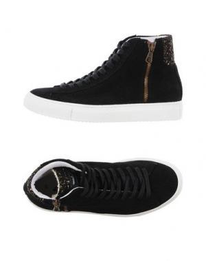 Высокие кеды и кроссовки QUATTROBARRADODICI. Цвет: черный