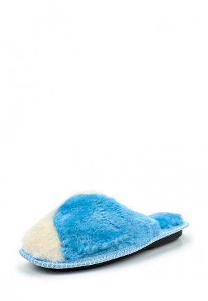 Тапочки Mon Ami. Цвет: голубой