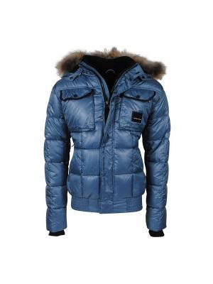 Куртка с капюшоном NICKELSON. Цвет: серо-голубой