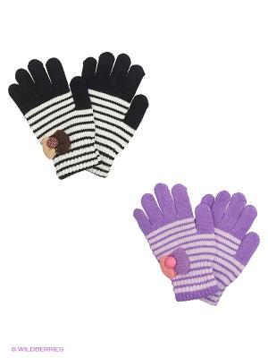 Перчатки FOMAS. Цвет: фиолетовый, черный