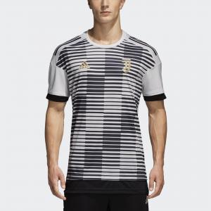 Домашняя предматчевая футболка Ювентус  Performance adidas. Цвет: черный