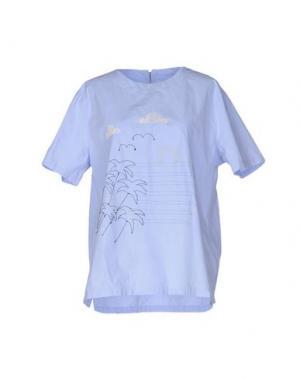 Блузка JIMI ROOS. Цвет: небесно-голубой