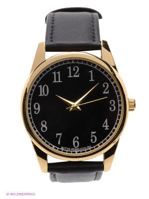 Часы Mitya Veselkov. Цвет: золотистый, черный