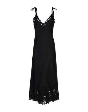 Длинное платье THEORY. Цвет: черный