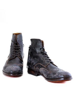 Ботинки Alexander Hotto. Цвет: коричневый