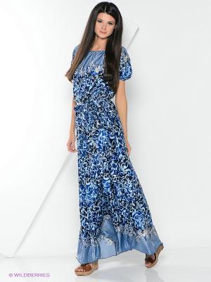 Платья Bezko. Цвет: синий
