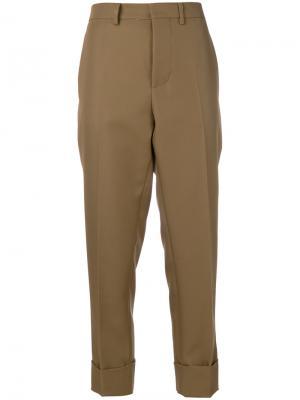 Укороченные брюки с завышенной талией Marni. Цвет: телесный