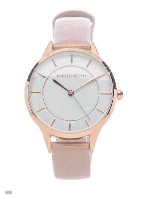 Часы KAREN MILLEN. Цвет: розовый