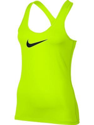 Топ W NK TANK VCTY BL Nike. Цвет: желтый, черный