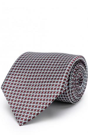 Комплект из шелкового галстука и платка Brioni. Цвет: серый