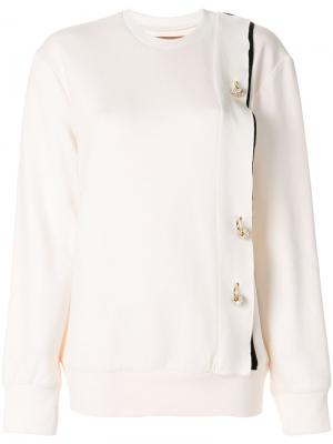 Crystal detail sweatshirt Coliac. Цвет: телесный